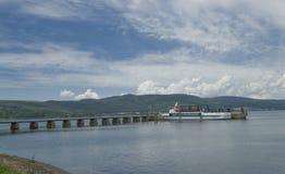 Lago Bracciano, Lazio, Italia Fotografía de archivo