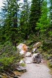 Lago Braies Imagen de archivo libre de regalías