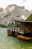 Lago Braies Fotografía de archivo