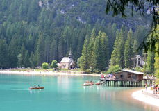 Lago Braies Fotos de Stock Royalty Free
