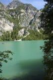 Lago Braies Fotografia Stock