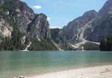 Lago Braies Immagine Stock Libera da Diritti