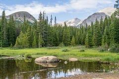 Lago Brainard en Ward Colorado Foto de archivo