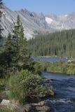 Lago Brainard na região selvagem indiana dos picos de Colorado fotografia de stock
