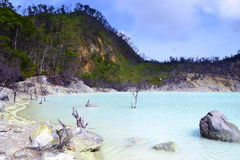 Lago branco crater Fotografia de Stock Royalty Free