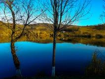 Lago Brateni immagine stock