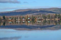 Lago Brich alla strada principale 3 dell'Alaska Fotografia Stock