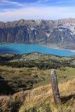 Lago Brienz in Svizzera fotografie stock