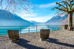 Lago Brienz, Switzerland Fotos de Stock Royalty Free