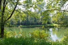 Lago Brinzio, Rasa val, província de Varese, Itália Foto de Stock