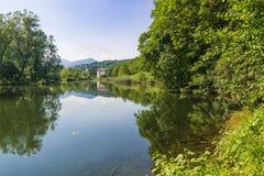 Lago Brinzio, Rasa val, provincia di Varese, Lombardia, Italia Immagini Stock Libere da Diritti
