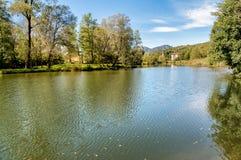 Lago Brinzio in valey Rasa, provincia di Varese, Italia Fotografia Stock Libera da Diritti
