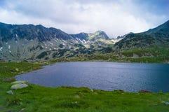 Lago Bucura, parco nazionale di Retezat Fotografia Stock