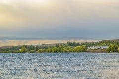Lago buenos Aires, Los Antiguos, Argentina Imagem de Stock Royalty Free