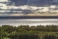 Lago buenos Aires, Los Antiguos, Argentina fotografia stock