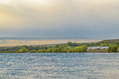Lago buenos Aires, Los Antiguos, la Argentina imagen de archivo libre de regalías