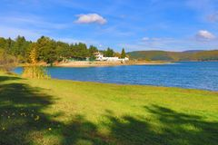 Lago Bulgaria Iskar immagine stock libera da diritti