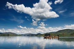 Lago Bunyonyi nell'Uganda Immagini Stock Libere da Diritti