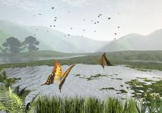 Lago butterfly ilustração stock