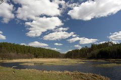 Lago cénico Imagens de Stock