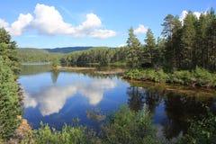 Lago cênico em Noruega Fotografia de Stock