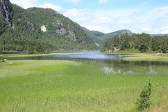 Lago cênico em Noruega Foto de Stock