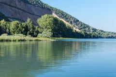 Lago Caccamo em Itália Foto de Stock