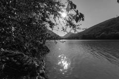 Lago Caccamo em Itália Fotografia de Stock Royalty Free
