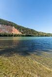 Lago Caccamo in Italia Fotografia Stock