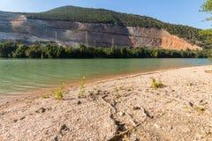 Lago Caccamo in Italia Fotografia Stock Libera da Diritti