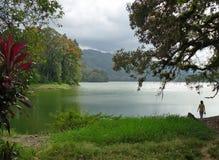 Lago Cachi, valle di orosi, Costa Rica fotografie stock libere da diritti