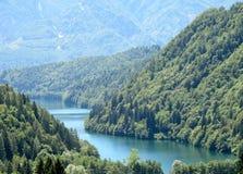 Lago Caldonazzo em Trentino fotos de stock