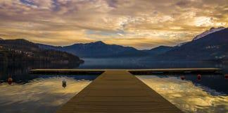 Lago Caldonazzo, Trentino, Italia Immagini Stock Libere da Diritti