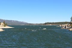 Lago Califórnia big Bear Fotografia de Stock