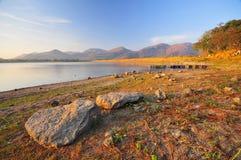 Lago calmo Imagens de Stock Royalty Free