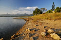 Lago calmo Fotografia de Stock