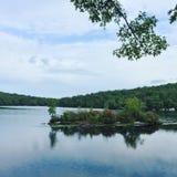Lago calmo Fotografia Stock