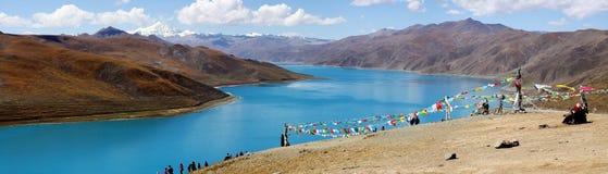 Lago calmo em tibet Imagens de Stock Royalty Free