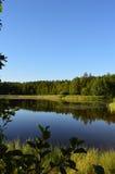 Lago calmo finlandese Fotografia Stock