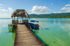 Lago calmo Peten na Guatemala Fotografia de Stock Royalty Free
