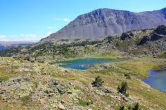 Lago Camporells e pico de Peric em Pyrenees Foto de Stock Royalty Free