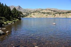 Lago Camporells in Pyrenees Fotografia Stock