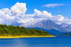 Lago Campotosto Fotos de Stock Royalty Free