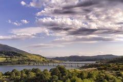Lago Campotosto - ponte Imagens de Stock