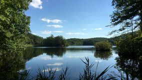 Lago Canopus en el parque de estado de Fahnestock en Nueva York Fotografía de archivo libre de regalías