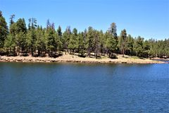 Lago canyon di legni, la contea di Coconino, Arizona, Stati Uniti Fotografie Stock Libere da Diritti