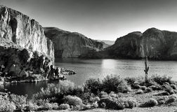 Lago canyon do deserto Imagem de Stock Royalty Free