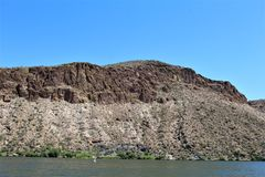 Lago canyon, el condado de Maricopa, Arizona, Estados Unidos Foto de archivo libre de regalías