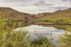 Lago canyon en la impulsión escénica del rastro de Apache, Arizona Fotografía de archivo libre de regalías