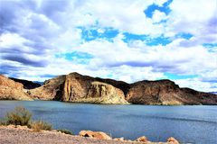 Lago canyon, stato dell'Arizona, Stati Uniti Fotografia Stock